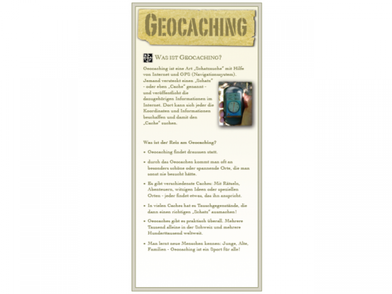 geocaching flyer traveltags paravan gmbh. Black Bedroom Furniture Sets. Home Design Ideas