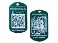 QR Tech Tag green (QR Travelbug)