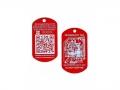 QR Tech Tag red (QR Travelbug)