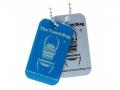QR Tech Tag blue(QR Travelbug)