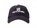 Geocaching-Mütze blau mit weissem Logo