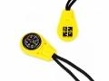 Geocaching-Kompass Anhänger gelb