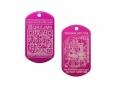 QR Tech Tag pink (QR Travelbug)