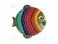 "Geocoin ""Regenbogen-Fisch"" V2 - Spectrum Black Nickel LE"
